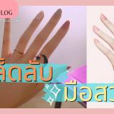 เคล็ดลับมือสวย วิธีดูแลมือสวย มือของเราผิวหยาบกร้าน หรือมือเหี่ยว ปล่อยให้เป็นแบบนั้นไป เพียงเท่านี้ มือของเราก็สวยนุ่มชุ่มชื่นแล้วค่ะ beauty Blog