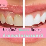 3 เคล็ดลับฟันขาว ยิ้มสวย ด้วยสมุนไพรธรรมชาติ ฟันเหลือง ฟันขาว วิธีดูแลฟัน ฟันสวยไร้หินปูน รากของฟันแข็งแรง แปรงฟันด้วยอะไรดี แปรงฟันขาว